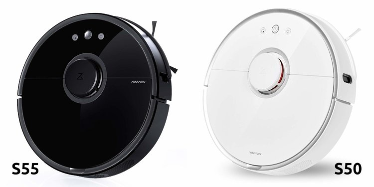What is the difference between the Roborock S55 and S50?
