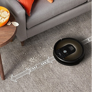 Dirt-Detect sensor automatically detects dirt Roomba 980