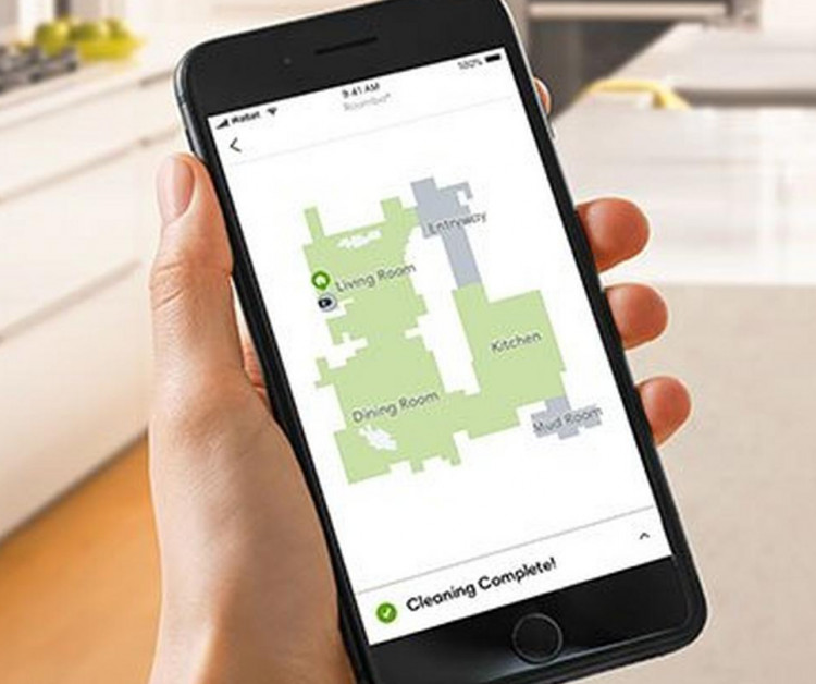 roomba app with map