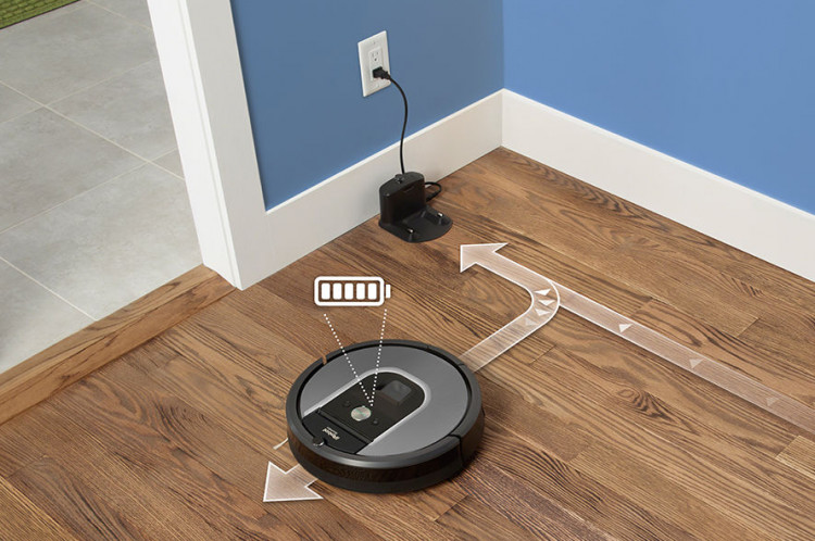 Roomba recharge and resume function