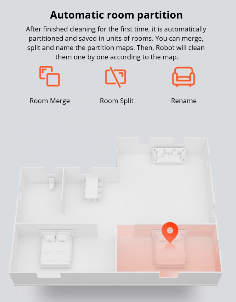 scheduling to make the Xiaomi 1S robot clean a specific room