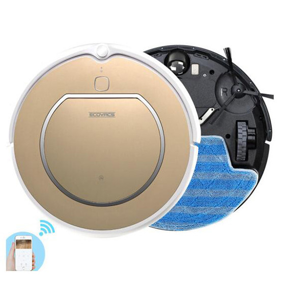 ECOVACS CEN540-LG is a cheap 2-in-1 robot vacuum cleaner that has an app and wi-fi enabled