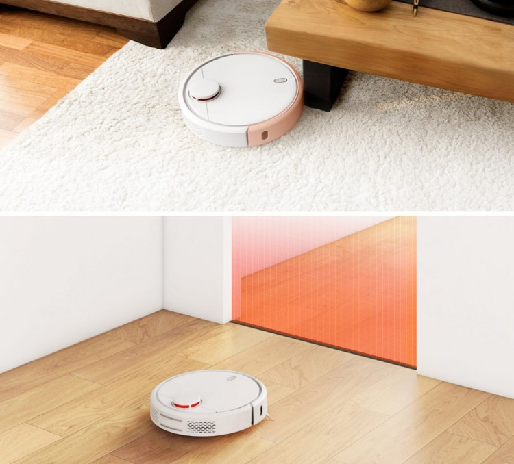 xiaomi mi robot on a carpet