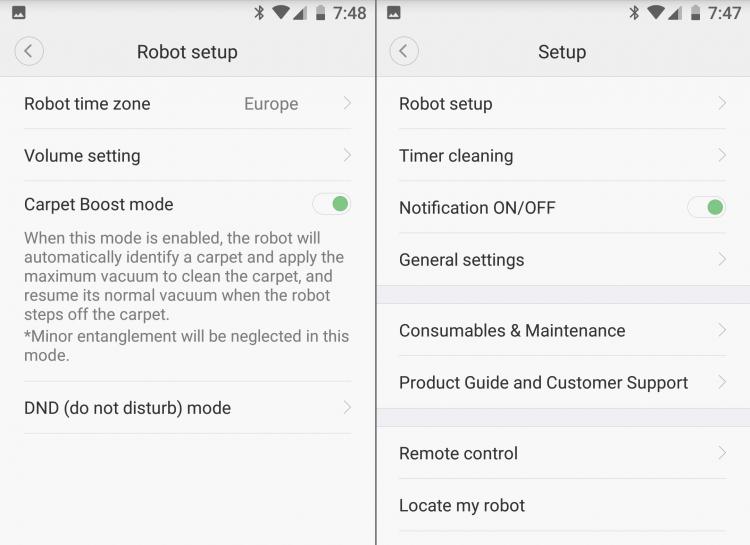 Xiaowa app: robot setup