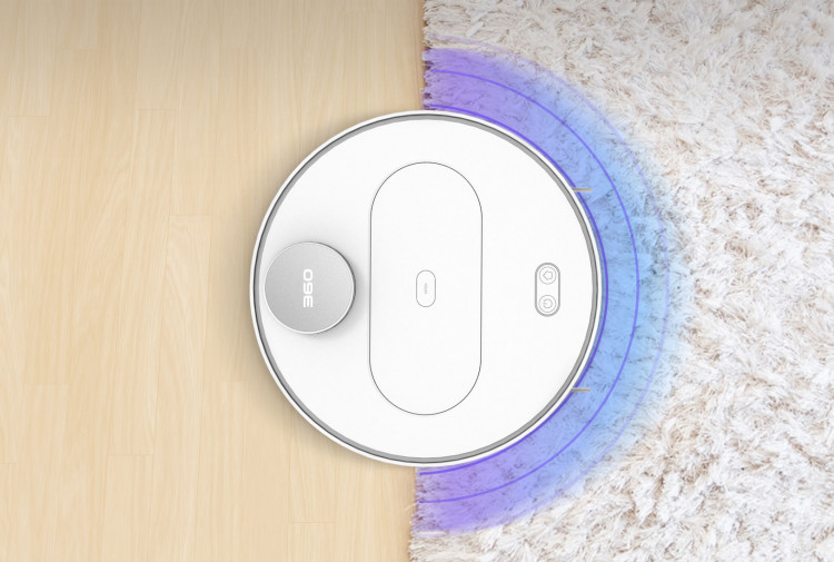 360 S6 robot vacuum carpet detection