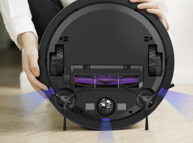 360 S6 robot vacuum cleaner bottom view