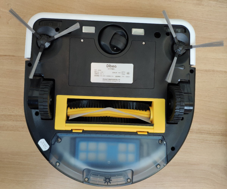 Dibea robot vacuum cleaner bottom view
