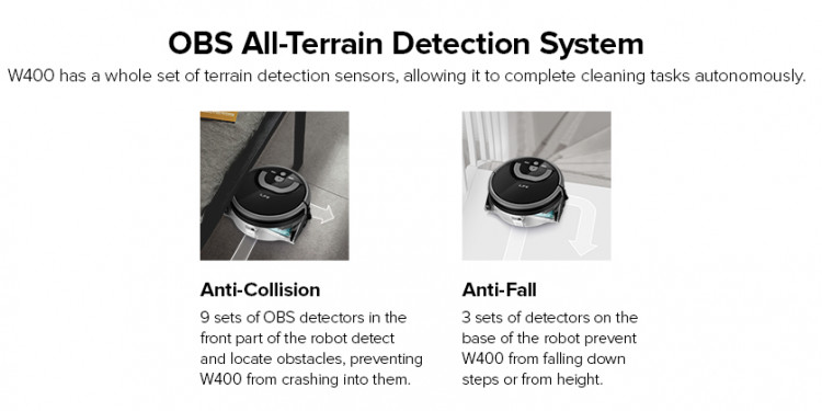 ilife w400 all-terrain detection system