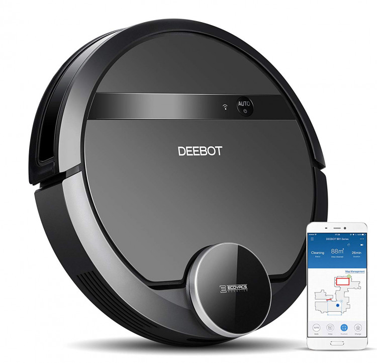 ECOVACS DEEBOT 901 is one of the best budget robot vacuum cleaner in the industry for pet hair
