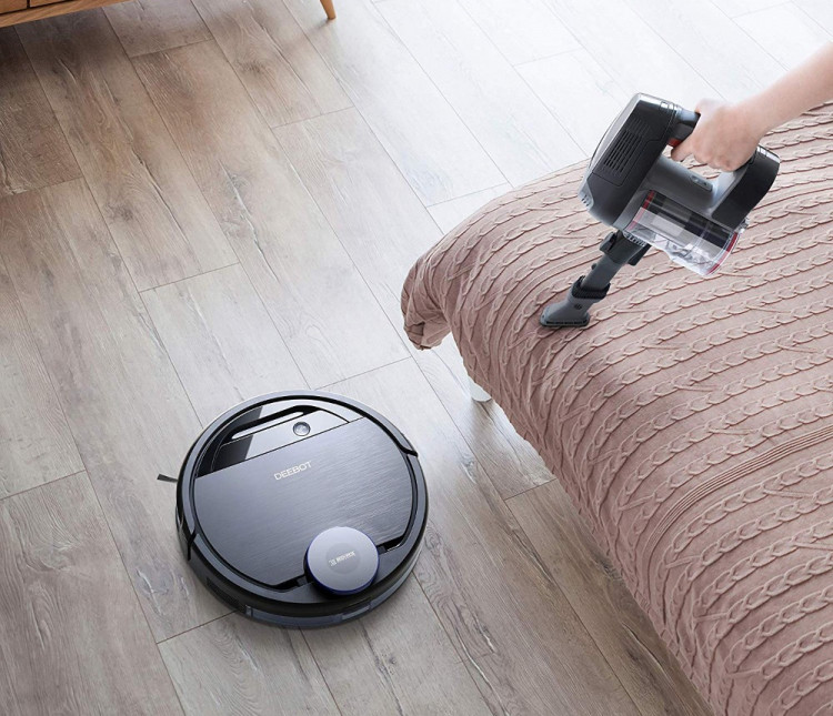 ECOVACS DEEBOT Pro 930 is a two-in-one robot vacuum that includes handheld unit to clean hard-to-reach places